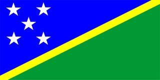 De Vlag van de Salomon Eilanden Stock Afbeeldingen