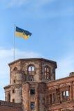 De Vlag van de staat van Baden Wuerttemberg Stock Foto