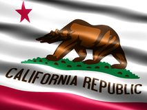 De vlag van de staat van Californië Stock Afbeelding