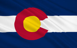 De Vlag van de staat van Colorado Royalty-vrije Stock Foto's
