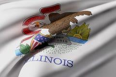 De Vlag van de Staat van Illinois Stock Foto