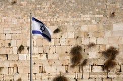 De Vlag van de staat van Israël Stock Foto's