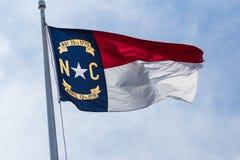 De vlag van de Staat van Noord-Carolina Royalty-vrije Stock Afbeeldingen