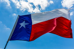 De Vlag van de Staat van Texas stock afbeeldingen