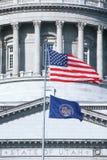 De vlag van de staat van Utah Stock Afbeeldingen