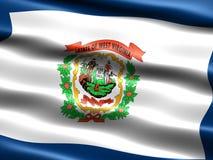 De vlag van de staat van West-Virginia Royalty-vrije Stock Foto