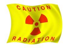 De vlag van de straling vector illustratie