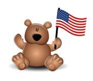 De Vlag van de Teddybeer van de Dag van de onafhankelijkheid vector illustratie
