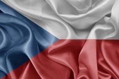 De vlag van de Tsjechische republiek royalty-vrije stock foto