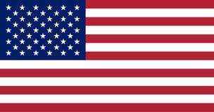 De vlag van de V Het nationale symbool van de Verenigde Staten van Amerika 13 strepen en 50 sterren stock illustratie