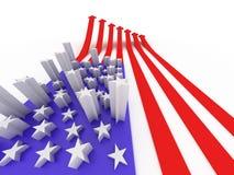 De vlag van de V.S. vector illustratie