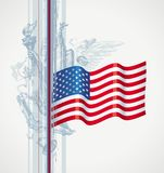 De vlag van de V.S. en Amerikaans symbool Stock Fotografie