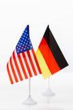 De vlag van de V.S. en van Duitsland Royalty-vrije Stock Foto's
