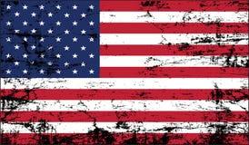 De vlag van de V.S. grunge Stock Fotografie