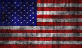 De vlag van de V.S. grunge Royalty-vrije Stock Afbeelding