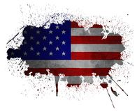 De vlag van de V.S. grunge Royalty-vrije Stock Fotografie