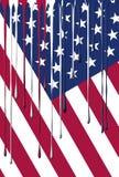 De Vlag van de V.S. het Druipen Kleuren Stock Foto's