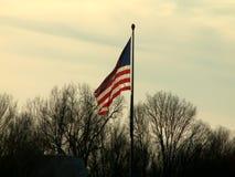 De vlag van de V.S. het golven stock footage