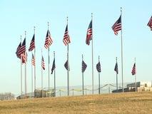 De vlag van de V.S. het golven stock video