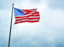 De Vlag van de V.S. in Liberty Park 9/11 gedenkteken Stock Foto