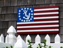 De Vlag van de V.S. met Anker Stock Afbeelding