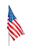 De vlag van de V.S. met het knippen van weg royalty-vrije stock foto's