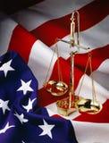 De Vlag van de V.S. met schalen Stock Afbeeldingen