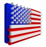 De Vlag van de V.S. Omvat het knippen weg. Stock Fotografie