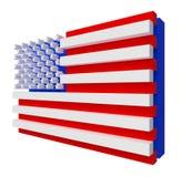 De Vlag van de V.S. Omvat het knippen weg. Stock Afbeelding
