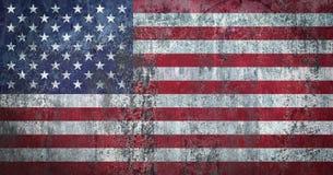De Vlag van de V.S. op een Muur wordt geschilderd die stock illustratie