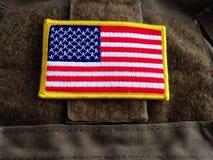 De vlag van de V.S. op het vest stock fotografie