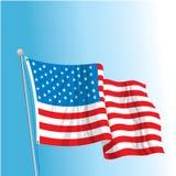 De Vlag van de V.S. op Pool Stock Fotografie