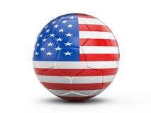 De vlag van de V.S. van de voetbalbal Stock Afbeeldingen