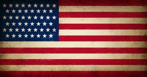 De Vlag van de V.S. van Grunge Royalty-vrije Stock Afbeeldingen