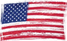 De vlag van de V.S. van Grunge Stock Afbeelding
