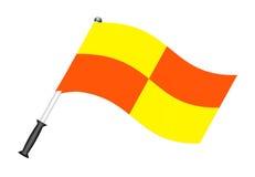 De vlag van de voetbal (scheidsrechtersvlag) Stock Foto's