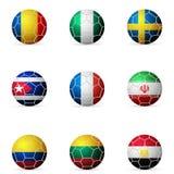 De vlag van de voetbalbal Stock Afbeelding