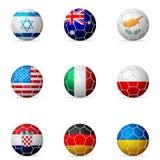 De vlag van de voetbalbal Royalty-vrije Stock Foto's