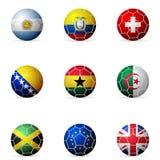 De vlag van de voetbalbal Royalty-vrije Stock Afbeelding