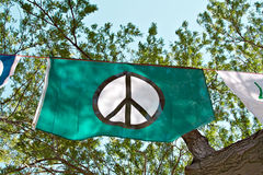 De Vlag van de vrede Royalty-vrije Stock Afbeeldingen