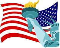 De Vlag van de vrijheid royalty-vrije illustratie