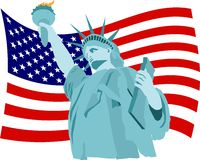 De Vlag van de vrijheid Stock Foto's
