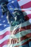 De Vlag van de vrijheid stock fotografie