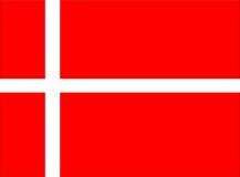 De vlag van Denemarken Stock Afbeeldingen