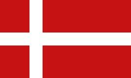 De vlag van Denemarken Royalty-vrije Stock Foto