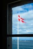 De Vlag van Denemarken Royalty-vrije Stock Afbeelding