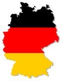 De vlag van Duitsland binnen landgrens Stock Foto's