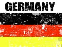De vlag van Duitsland grunge Stock Foto's