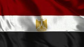 De Vlag van Egypte - Realistische 4K - 30 fpsvlag van Egypte die in de wind golven stock video