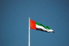 De Vlag van emiraten stock afbeelding